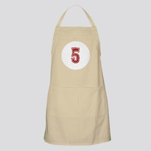 Red Sox White #5 Apron