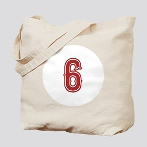 Red Sox White #6 Tote Bag