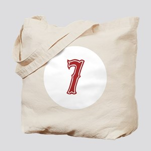 Red Sox White #7 Tote Bag