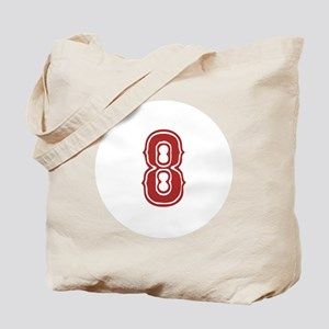 Red Sox White #8 Tote Bag