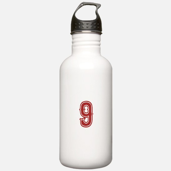 Red Sox White #9 Water Bottle