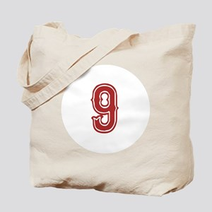 Red Sox White #9 Tote Bag