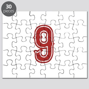 Red Sox White #9 Puzzle