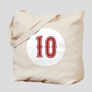 Red Sox White #10 Tote Bag