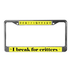 Critters License Plate Frame
