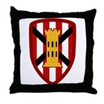 7th Engineer Bde Throw Pillow