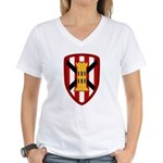 7th Engineer Bde Women's V-Neck T-Shirt