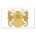 Navy Diving Medical Officer Sticker (Rectangle)