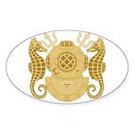 Navy Diving Medical Officer Sticker (Oval)