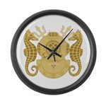 Navy Diving Medical Officer Large Wall Clock