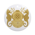 Navy Diving Medical Officer Ornament (Round)