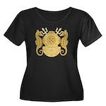 Navy Div Women's Plus Size Scoop Neck Dark T-Shirt