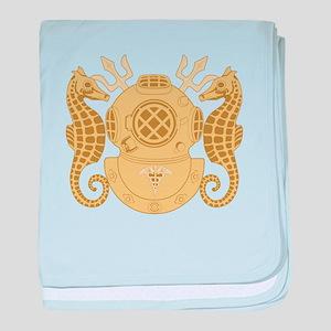 Navy Diving Medical Officer baby blanket