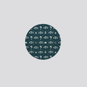 Alpha Tau Omega Pattern Blue Mini Button