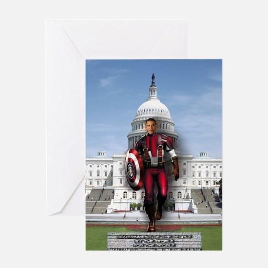 Obama Super Hero Greeting Card