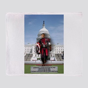 Obama Super Hero Throw Blanket