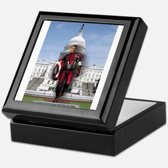 Obama Super Hero Keepsake Box