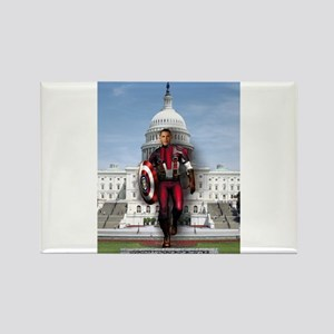 Obama Super Hero Rectangle Magnet