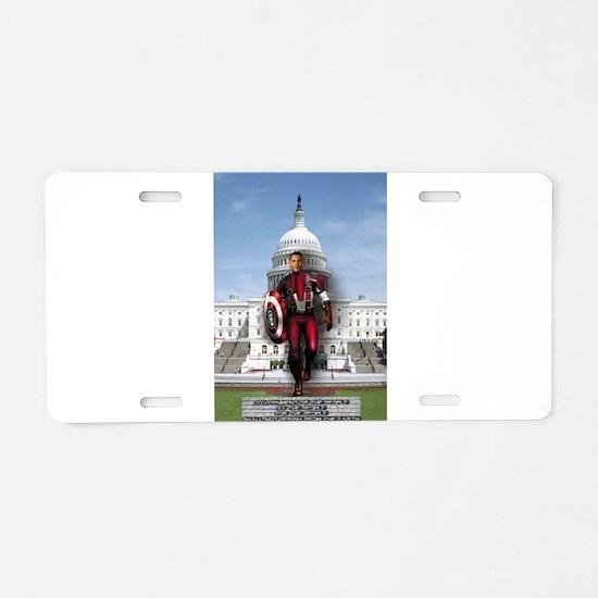 Obama Super Hero Aluminum License Plate