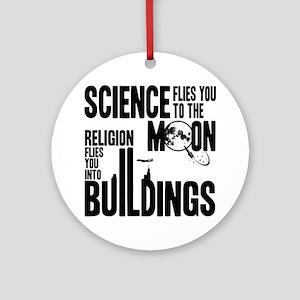 Science Vs. Religion Ornament (Round)