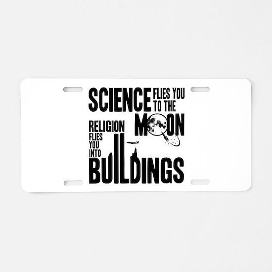 Science Vs. Religion Aluminum License Plate