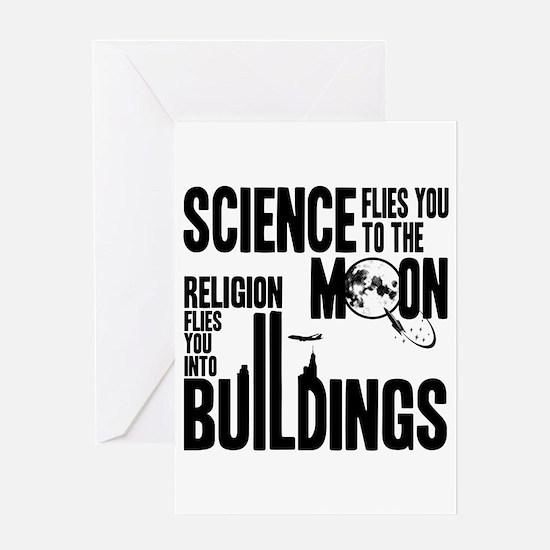 Science Vs. Religion Greeting Card