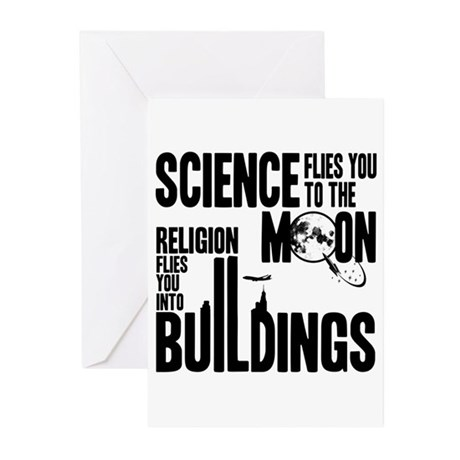 Science Vs. Religion Greeting Cards (Pk of 10)