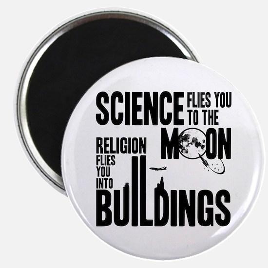 """Science Vs. Religion 2.25"""" Magnet (100 pack)"""