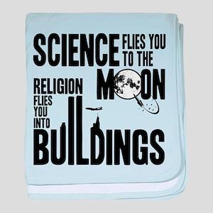 Science Vs. Religion baby blanket