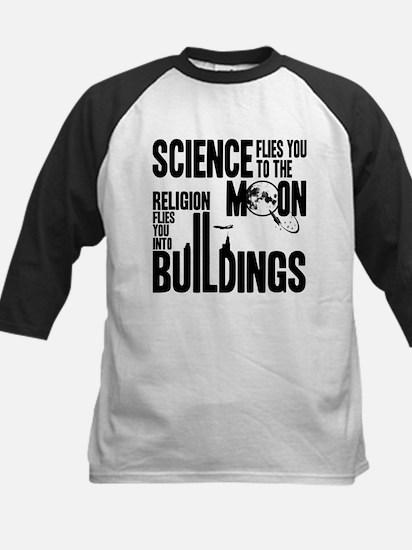 Science Vs. Religion Kids Baseball Jersey