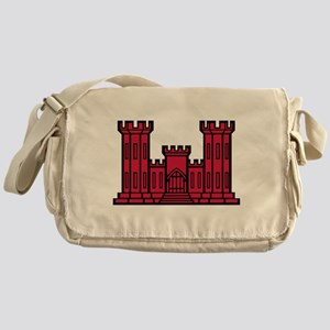 Engineer Branch Insignia - Red Messenger Bag