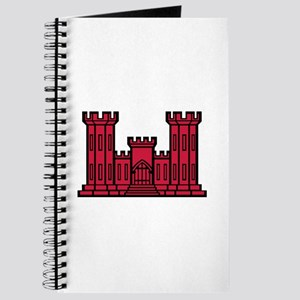 Engineer Branch Insignia - Red Journal