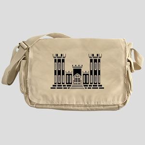 Engineer Branch Insignia - B-W Messenger Bag