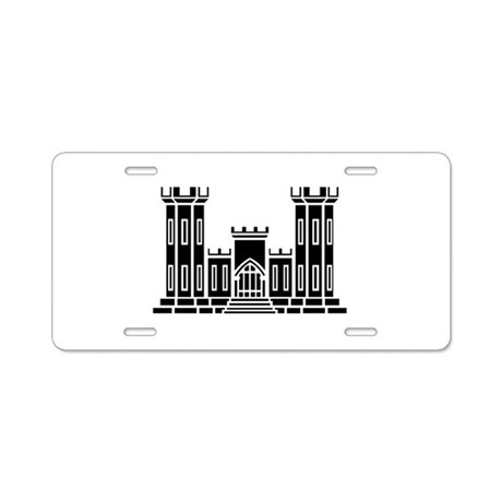 Engineer Branch Insignia - B-W Aluminum License Pl