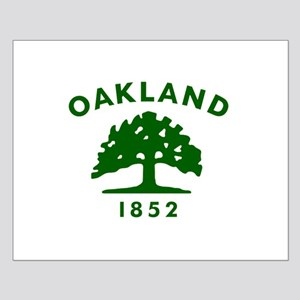 Oakland 1852 Flag Small Poster