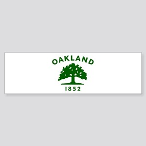 Oakland 1852 Flag Sticker (Bumper)