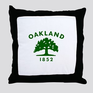 Oakland 1852 Flag Throw Pillow