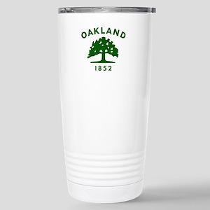 Oakland 1852 Flag Stainless Steel Travel Mug