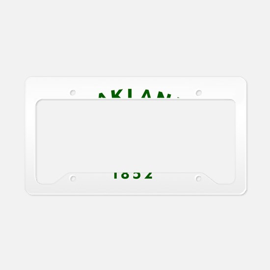 Oakland 1852 Flag License Plate Holder