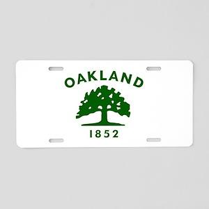 Oakland 1852 Flag Aluminum License Plate