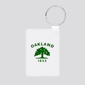Oakland 1852 Flag Aluminum Photo Keychain