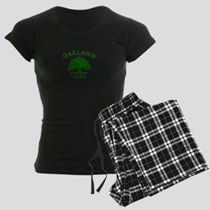 Oakland 1852 Flag Women's Dark Pajamas