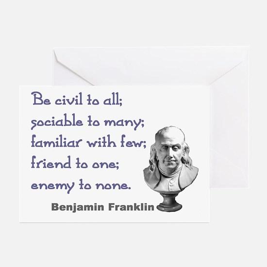 Be civil Greeting Cards (Pk of 10)