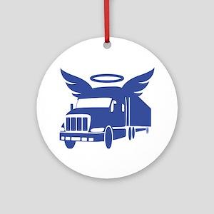trucker angel Round Ornament