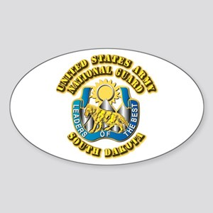 Army National Guard - South Dakota Sticker (Oval)
