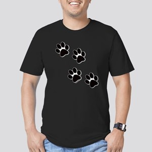 Paw Prints Men's Fitted T-Shirt (dark)