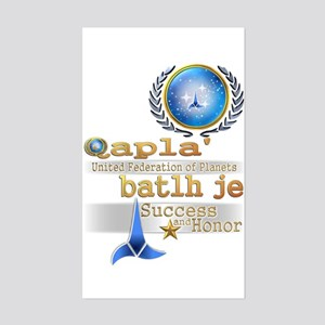 Qapla' batlh je - Sticker (Rectangle)