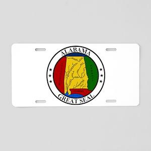 Seal of Alabama Aluminum License Plate