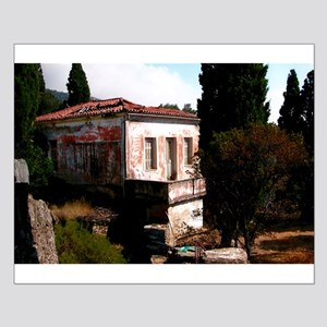 Mediterranean Home in Greece Small Poster