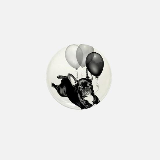 Party French bulldog Mini Button